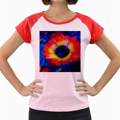 Tie Dye Flower Women s Cap Sleeve T-Shirt
