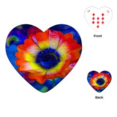 Tie Dye Flower Playing Cards (heart)