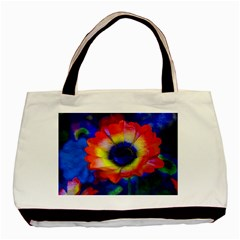 Tie Dye Flower Basic Tote Bag (two Sides)