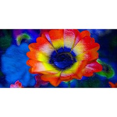 Tie Dye Flower You Are Invited 3d Greeting Card (8x4)