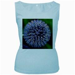 Globe Mallow Flower Women s Baby Blue Tank Top
