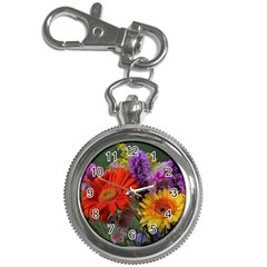 Colorful Flowers Key Chain Watches