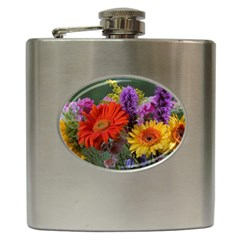 Colorful Flowers Hip Flask (6 oz)