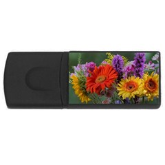 Colorful Flowers USB Flash Drive Rectangular (2 GB)
