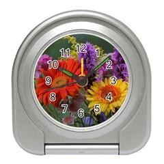 Colorful Flowers Travel Alarm Clocks