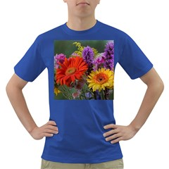 Colorful Flowers Dark T-Shirt