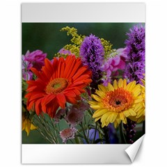 Colorful Flowers Canvas 12  x 16