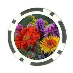 Colorful Flowers Poker Chip Card Guards (10 pack)