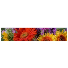 Colorful Flowers Flano Scarf (small)