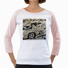 Old Ford Pick Up Truck  Girly Raglans