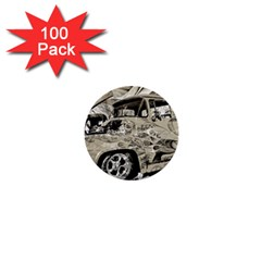Old Ford Pick Up Truck  1  Mini Buttons (100 pack)