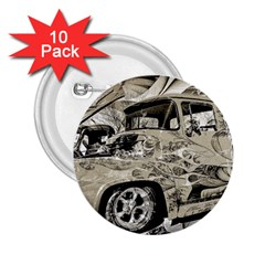Old Ford Pick Up Truck  2.25  Buttons (10 pack)