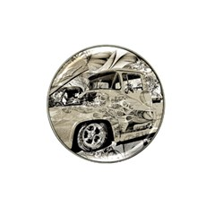 Old Ford Pick Up Truck  Hat Clip Ball Marker (4 pack)