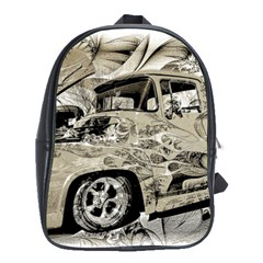 Old Ford Pick Up Truck  School Bags(Large)