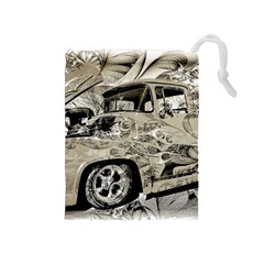 Old Ford Pick Up Truck  Drawstring Pouches (Medium)