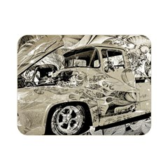 Old Ford Pick Up Truck  Double Sided Flano Blanket (Mini)