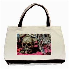 Skull and Bike Basic Tote Bag