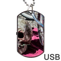 Skull and Bike Dog Tag USB Flash (Two Sides)