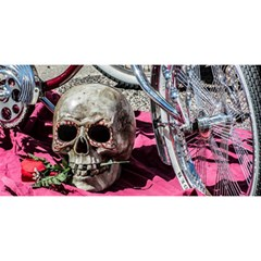 Skull and Bike YOU ARE INVITED 3D Greeting Card (8x4)