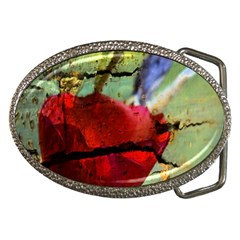 Rusty Globe Mallow Flower Belt Buckles