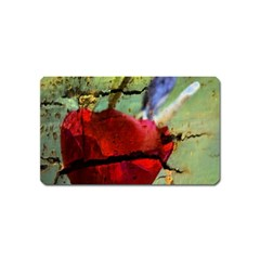 Rusty Globe Mallow Flower Magnet (Name Card)