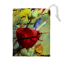 Rusty Globe Mallow Flower Drawstring Pouches (extra Large)