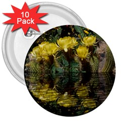 Cactus Flowers with Reflection Pool 3  Buttons (10 pack)