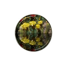 Cactus Flowers with Reflection Pool Hat Clip Ball Marker