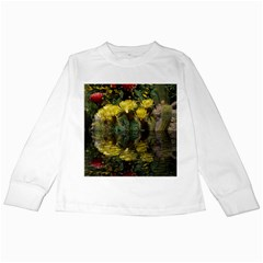 Cactus Flowers with Reflection Pool Kids Long Sleeve T-Shirts