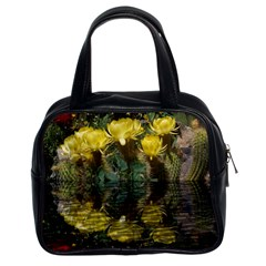 Cactus Flowers with Reflection Pool Classic Handbags (2 Sides)