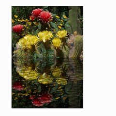Cactus Flowers with Reflection Pool Large Garden Flag (Two Sides)