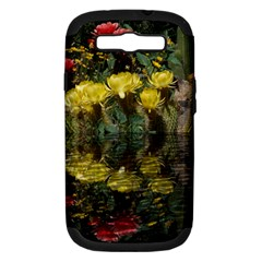 Cactus Flowers with Reflection Pool Samsung Galaxy S III Hardshell Case (PC+Silicone)