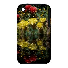 Cactus Flowers with Reflection Pool Apple iPhone 3G/3GS Hardshell Case (PC+Silicone)