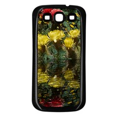 Cactus Flowers with Reflection Pool Samsung Galaxy S3 Back Case (Black)