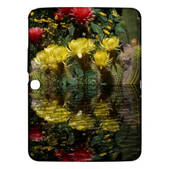 Cactus Flowers with Reflection Pool Samsung Galaxy Tab 3 (10.1 ) P5200 Hardshell Case