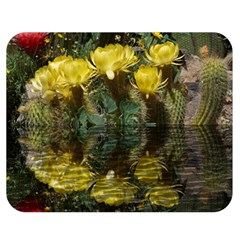 Cactus Flowers with Reflection Pool Double Sided Flano Blanket (Medium)
