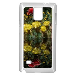 Cactus Flowers with Reflection Pool Samsung Galaxy Note 4 Case (White)