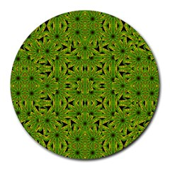 Geometric African Print Round Mousepads