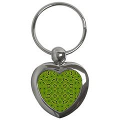 Geometric African Print Key Chains (Heart)