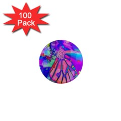 Psychedelic Butterfly 1  Mini Magnets (100 pack)