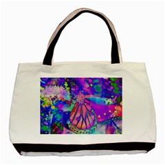Psychedelic Butterfly Basic Tote Bag (Two Sides)
