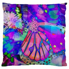 Psychedelic Butterfly Large Cushion Case (One Side)