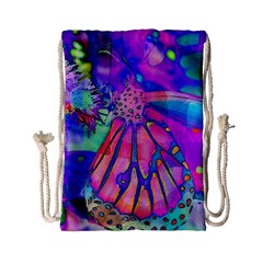 Psychedelic Butterfly Drawstring Bag (Small)