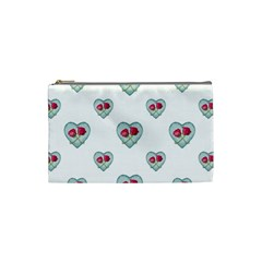 Love Ornate Motif Print Cosmetic Bag (Small)