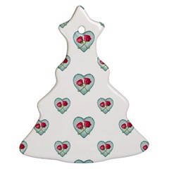 Love Ornate Motif Print Christmas Tree Ornament (2 Sides)