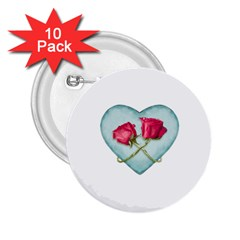Love Ornate Motif  2.25  Buttons (10 pack)