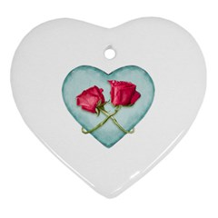Love Ornate Motif  Heart Ornament (2 Sides)