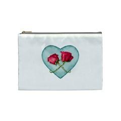 Love Ornate Motif  Cosmetic Bag (Medium)