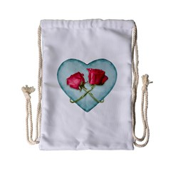 Love Ornate Motif  Drawstring Bag (Small)