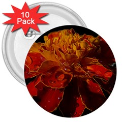 Marigold on Black 3  Buttons (10 pack)